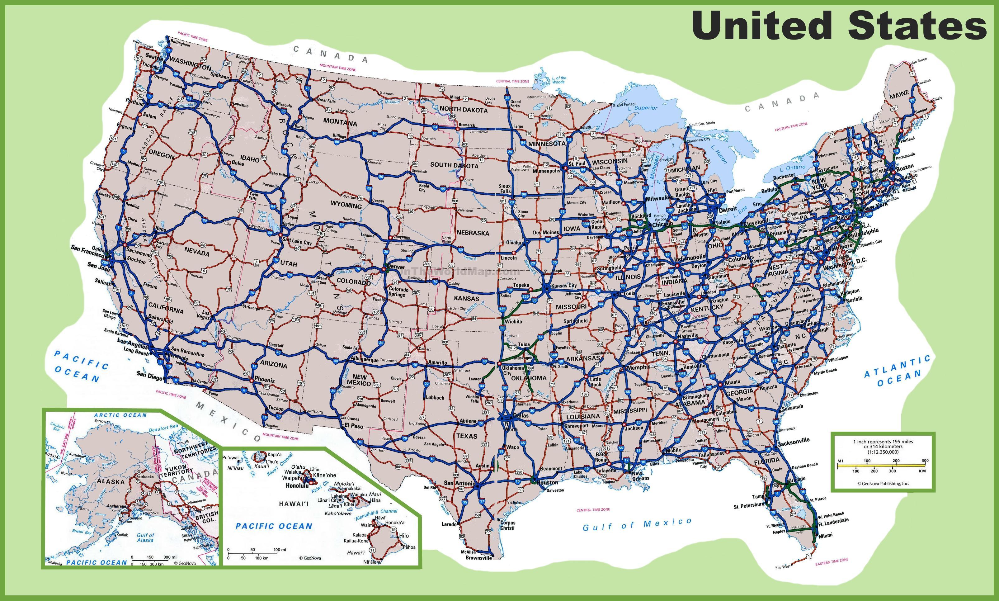 Mapa De Carreteras De Estados Unidos Mapa De Carreteras De Los