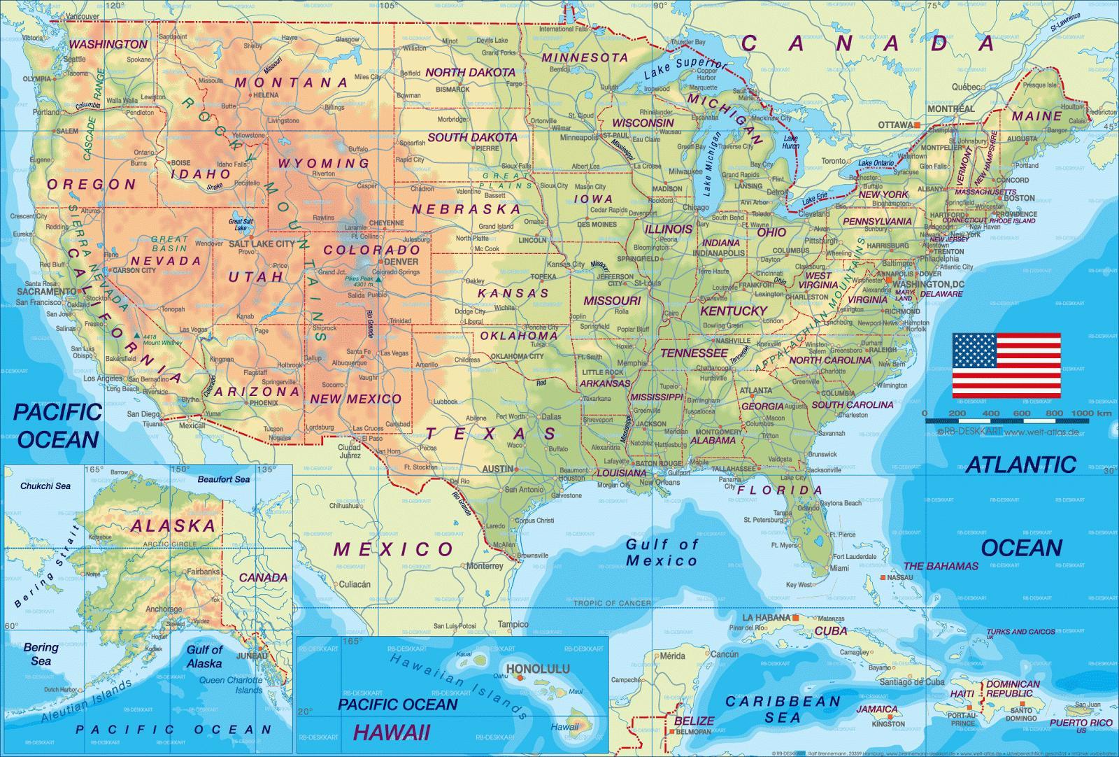 Mapa De La Ciudad De Estados Unidos Ciudades Del Mapa Estados