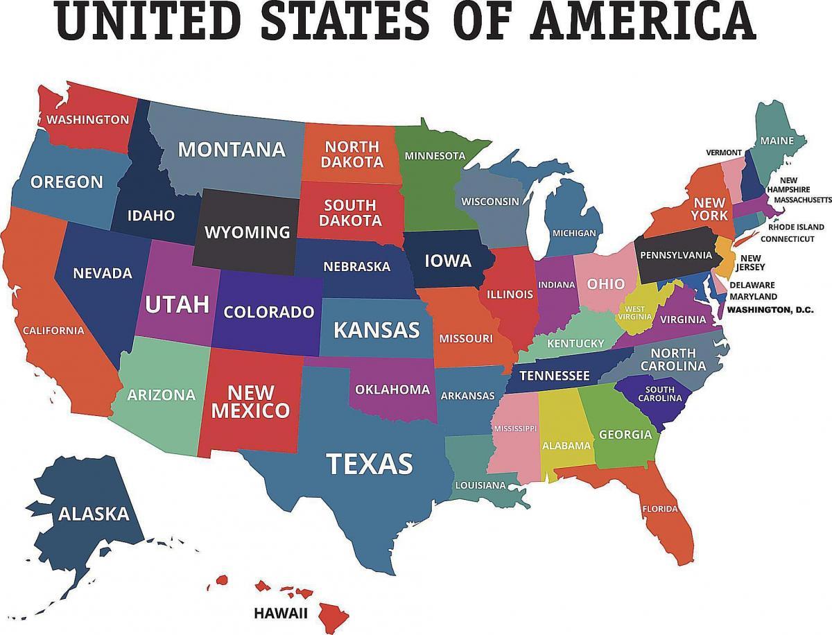 Nosotros Los 50 Estados Map Nosotros Mapa De Los 50 Estados América Del Norte América